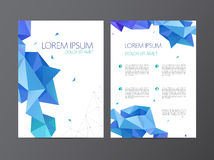 Vector flyer, blue brochure abstract design 2 Royalty Free Stock Image