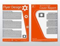 Vector flyer brochure design geometric template abstract. A4 size. Royalty Free Stock Image
