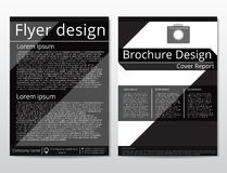 Vector flyer brochure design geometric template abstract. A4 size. Stock Images