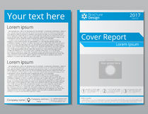 Vector flyer brochure design geometric template abstract. A4 size. Royalty Free Stock Images