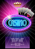 Vector flyer for casino night Royalty Free Stock Photo