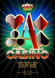 Vector flyer with colors for casino night Stock Image