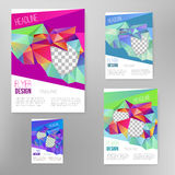 Vector flyer cover design template with colorful  abstract geometric shape, triangle background for your business. EPS10 Royalty Free Stock Image