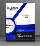 Vector Flyer Design - Business Royalty Free Stock Photos
