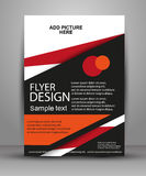 Vector Flyer Design - Business. Simple  flyer for your business and advertising Royalty Free Stock Images