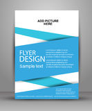 Vector Flyer Design - Business. Simple  flyer for your business and advertising Stock Photos