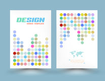 Vector flyer design templates with circle pastel color. Royalty Free Stock Image