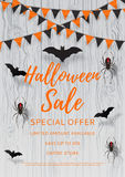 Vector flyer for halloween sale Royalty Free Stock Photo