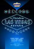 Vector flyer for party in casino in Las Vegas Royalty Free Stock Photo