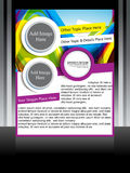 Vector flyer & poster design Royalty Free Stock Image