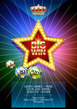Vector flyer with star shape for party in casino Royalty Free Stock Photos