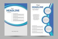 Vector flyer template design Stock Photos