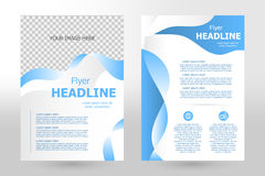 Vector flyer template design Royalty Free Stock Image