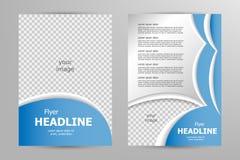 Vector flyer template design Royalty Free Stock Photo