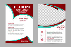 Vector flyer template design Stock Photography