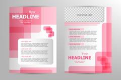 Vector flyer template design Stock Photo
