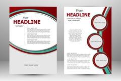 Vector flyer template design Royalty Free Stock Photos