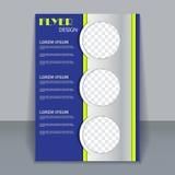 Vector flyer template for design Stock Photos