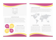 Vector flyer template design with front page and back page. Business brochure or cover Stock Image