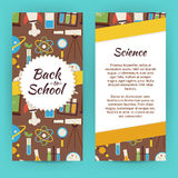 Vector Flyer Template of Flat design School Knowledge Science an Royalty Free Stock Photography