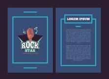 Vector flyer template with karaoke club, audio record studio. Vector card flyer template with karaoke club, audio record studio logo, badge with vintage vector illustration