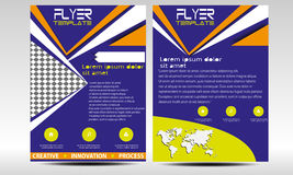 Vector Flyer Templates set Royalty Free Stock Photo