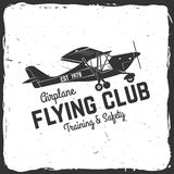 Vector Flying club retro badge. Royalty Free Stock Images