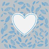 Vector flying leaves background card Royalty Free Stock Image