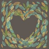Vector flying leaves background card Stock Photos