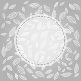 Vector flying leaves background card Stock Image