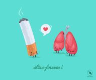 Vector fnny illustration for lovers. Stock Photo