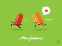 Vector fnny illustration for lovers. Stock Photos