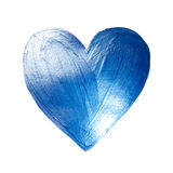 Vector Foil Paint Heart on White Background. Love Concept Design Happy Valintinas Day. Easy to use and edit. Royalty Free Stock Photography