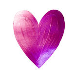 Vector Foil Paint Heart on White Background. Love Concept Design Happy Valintinas Day. Easy to use and edit. Stock Image