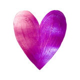 Vector Foil Paint Heart on White Background. Love Concept Design Happy Valintinas Day. Easy to use and edit. Royalty Free Stock Image