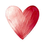 Vector Foil Paint Heart on White Background. Love Concept Design Happy Valintinas Day. Easy to use and edit. Royalty Free Stock Photo