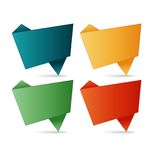 Vector folded paper Royalty Free Stock Photo