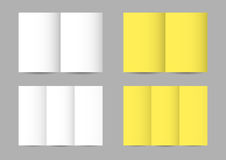 Vector folded paper leaflets stock illustration