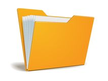 Vector folder with documents Royalty Free Stock Photos