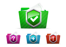 Vector folder icon Royalty Free Stock Photos