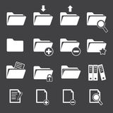 Vector folder icon set Stock Photos