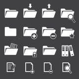Vector folder icon set Stock Photos