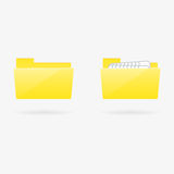 Vector folder icons Royalty Free Stock Images