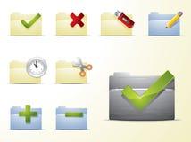Vector folder icons set Stock Photos