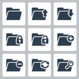 Vector folder icons set. Vector  folder icons set Stock Image