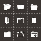 Vector folder icons set Royalty Free Stock Images