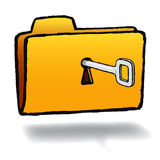 Vector folder key Royalty Free Stock Image