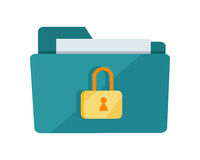 Vector Folder Lock Icon Royalty Free Stock Photography