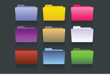 Vector folders different colors Royalty Free Stock Image