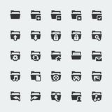 Vector folders icons set Stock Photo